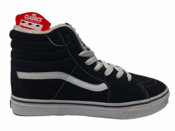 Зимние Vans SK8-Hi черные с белым