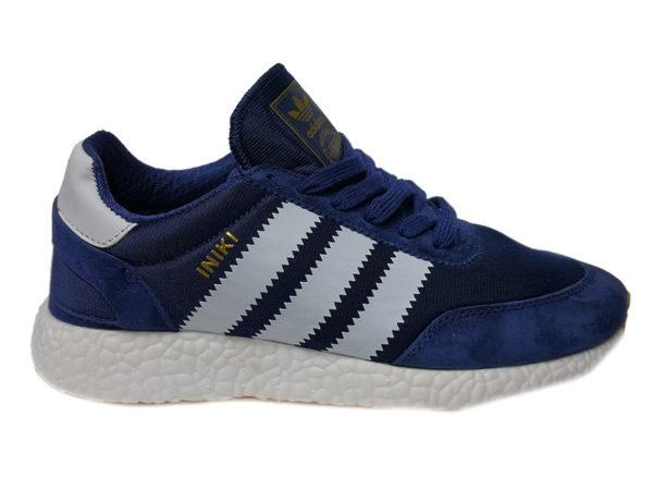 Adidas Iniki синие с белым