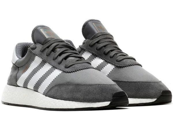 Adidas Iniki Runner Boost серые с белым