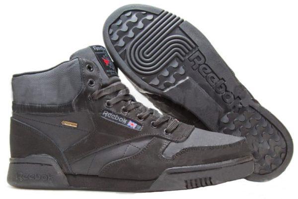 Reebok Classic Leather High Black черные (40-45)