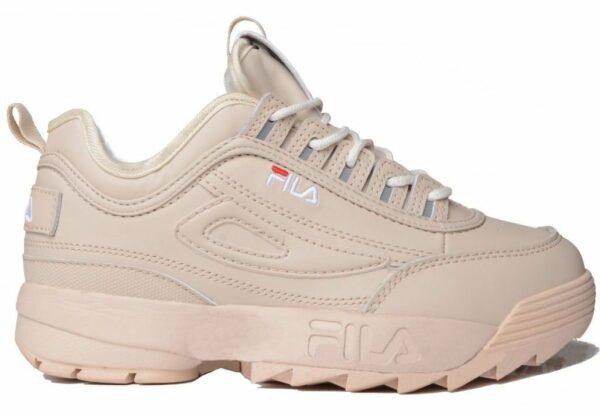 Бежевые кроссовки Fila
