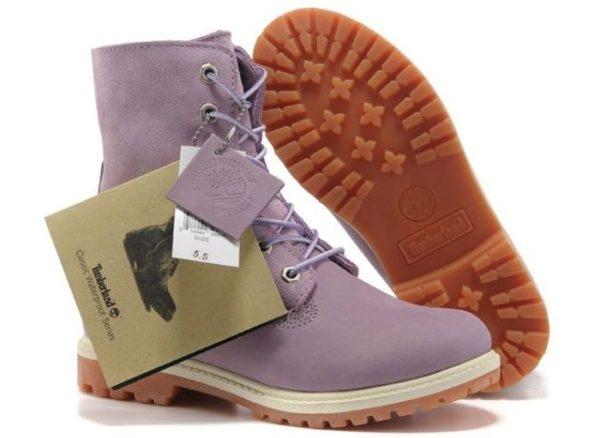 Фиолетовые ботинки Timberland