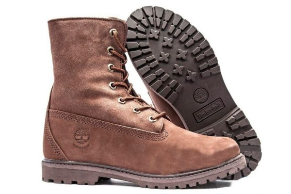Ботинки Timberland Teddy Fleece brown коричневые 35-40