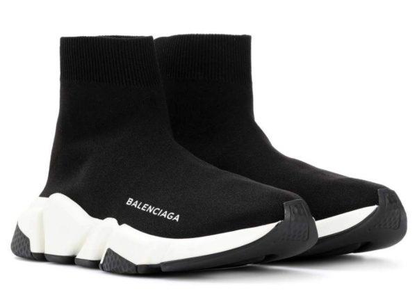 Balenciaga Speed Trainer Black/White черно-белые женские мужские (35-45)