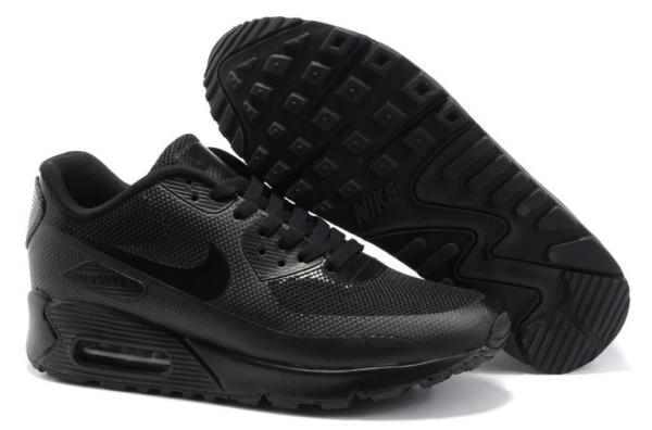 Nike Air Max 90 Hyperfuse черные (35-45)