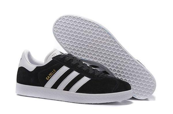 Adidas Gazelle черные с белым (35-44)