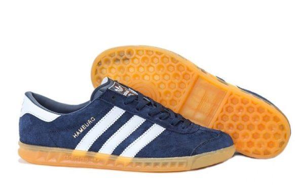 Adidas Hamburg темно-синие с белым (39-44)