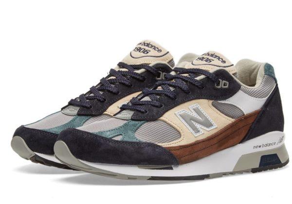 New Balance 991.5 синие с бежевым и коричневым (40-44)