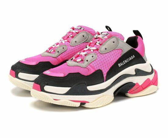 Розовые кроссовки Balenciaga