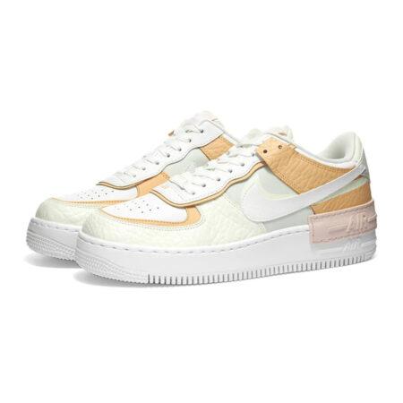 Nike Air Force 1 Shadow бело-желтые с розовым (35-39)